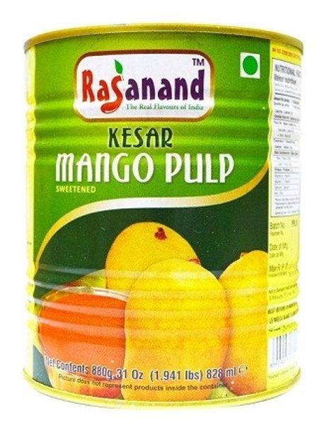 Mango Pulp Kesar (Rasanand) 850g Dose