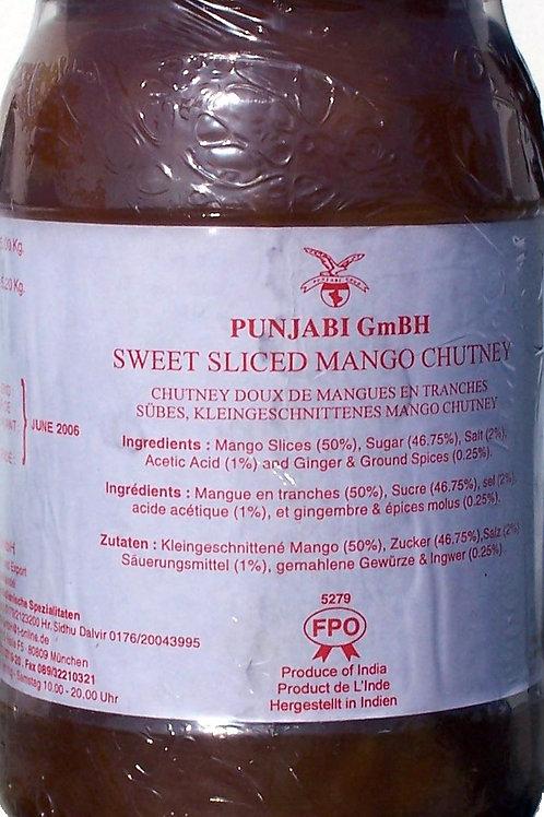 Sweet Sliced Mango Chutney 4 x 5Kg (Punjabi/Rasand)