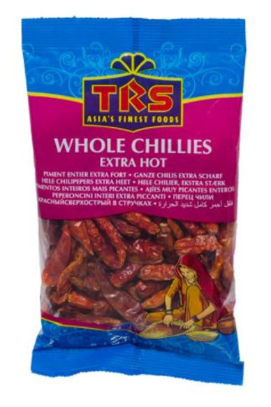 Whole Chillies Extra Hot (TRS) 50g