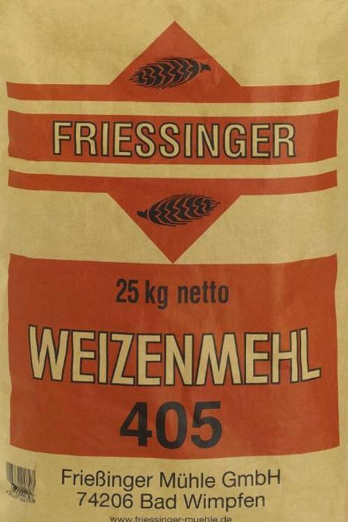 Pizzamehl Typo 405 /25kg (Frießinger)