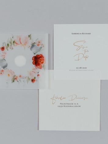 Save the Date Karte mit Umschlag und Kuvert