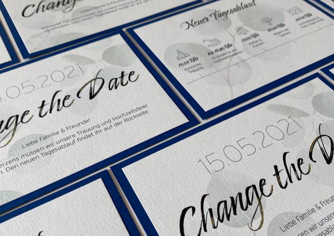 Change the Date Karte Eukalyptus