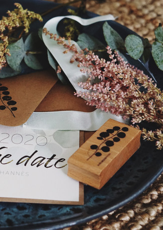 Save the Date Eukalyptus