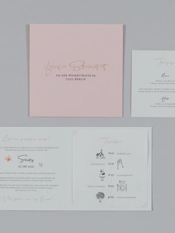 Einladungskarte inkl. Inlet-Karten und Kuvert