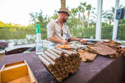 Cigar roller reception entertainment