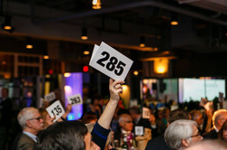Non-profit event bidder number
