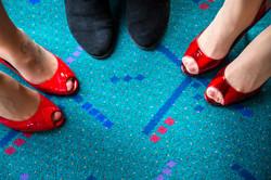 Team's Feet on PDX carpet