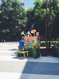 public piano outdoor event experience