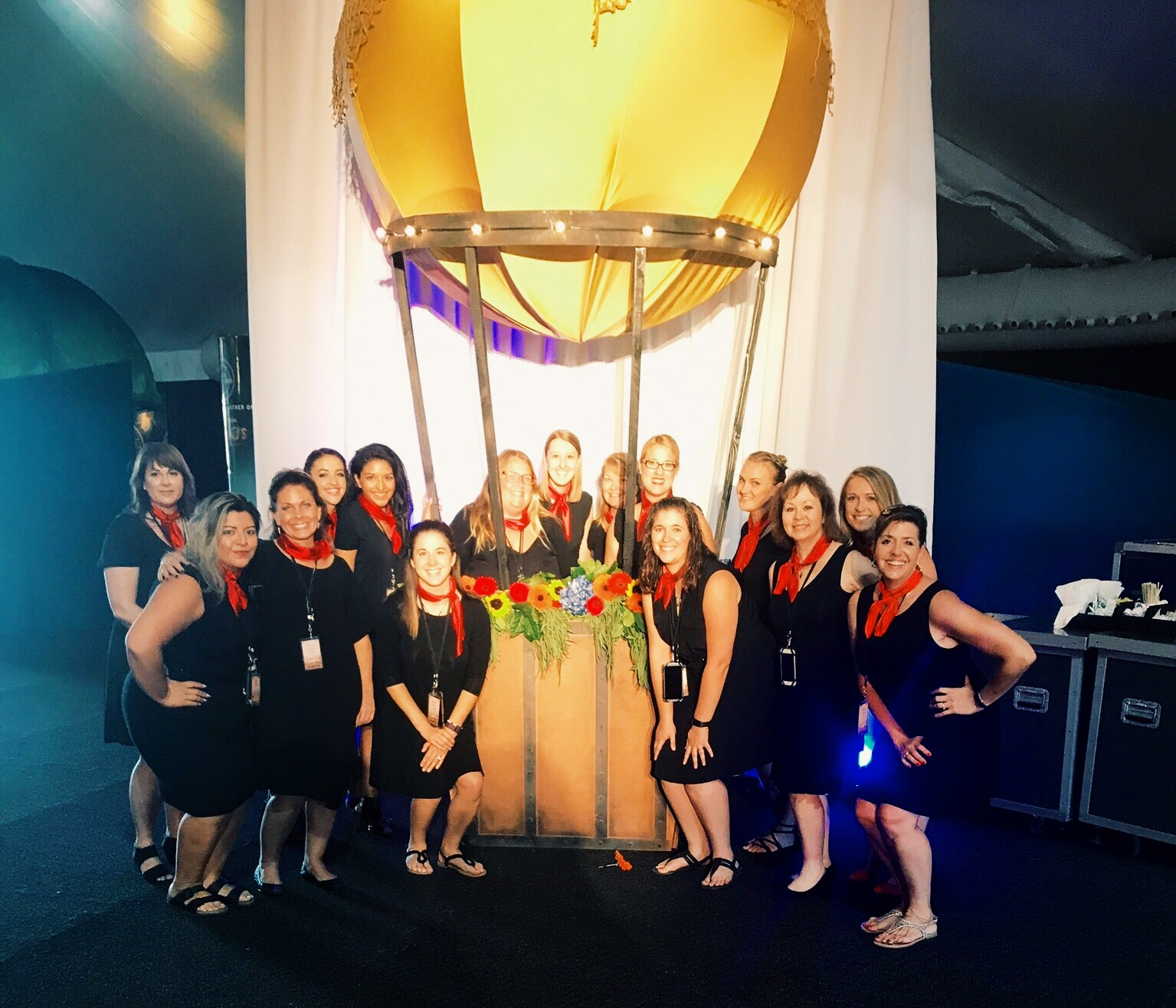 event planners with hot air balloon