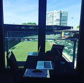 In the Portland MAC club looking at Providence Park