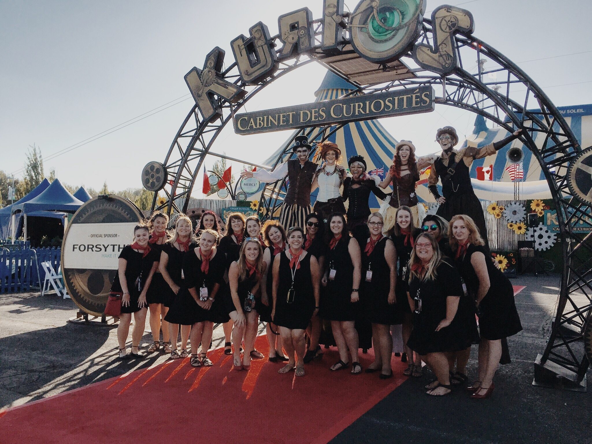team of planners at cirque du Soleil