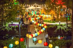 Outdoor event paper lanterns