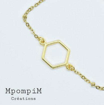 """Bracelet collection """"Minimaliste"""" breloque dorée"""