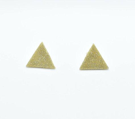 Puces d'oreilles Triangle Doré