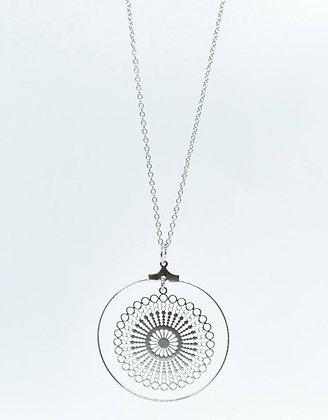 Collier Mandala Bohême argenté