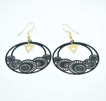 Boucles d'oreilles Black & Gold