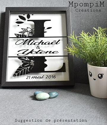 Stickers mariés pour tableau  personnalisable