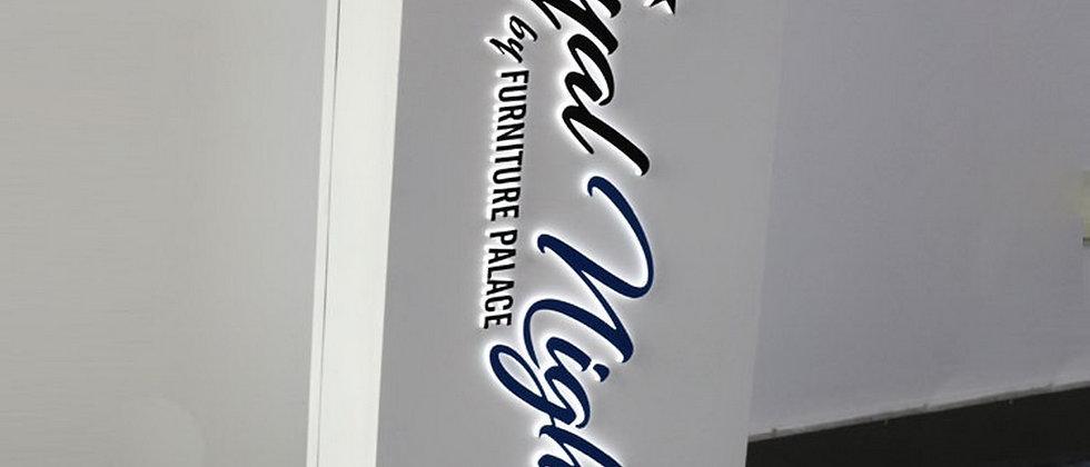Waterproof SUS light box acrylic cut letters vinyl face letters sign exterior us