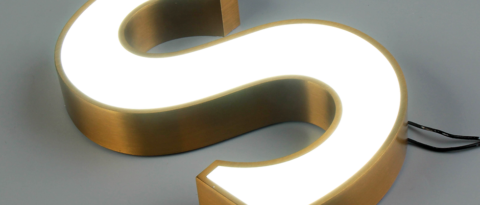 Wholesale stainless steel LED channel letter sign with acrylic face for exterior