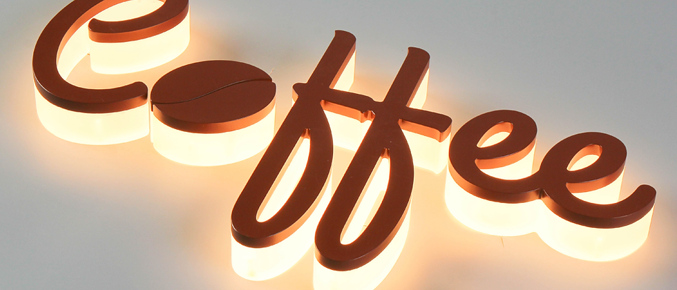 3D durable acrylic back-lit letter sign for light up sign for store front