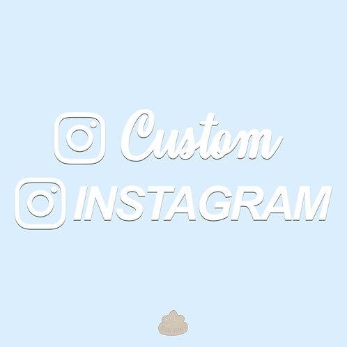 Custom Instagram Handles for Cars and Laptops
