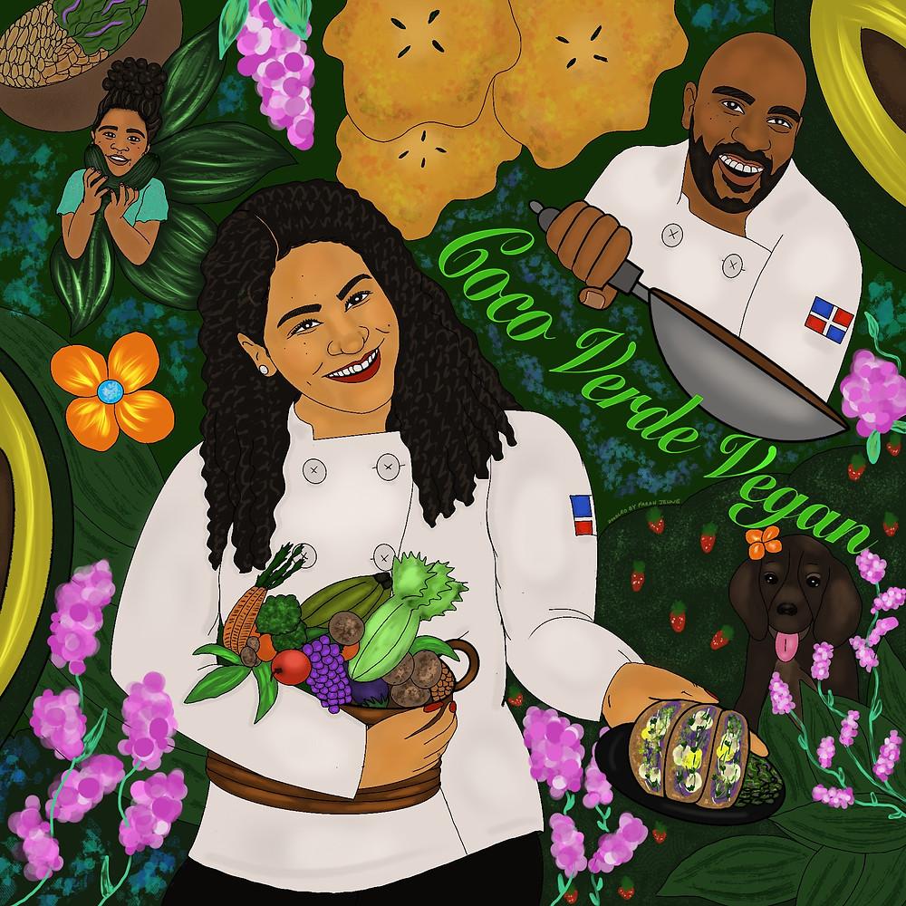 Illustration by Farah Jeune of @studiojeuneart