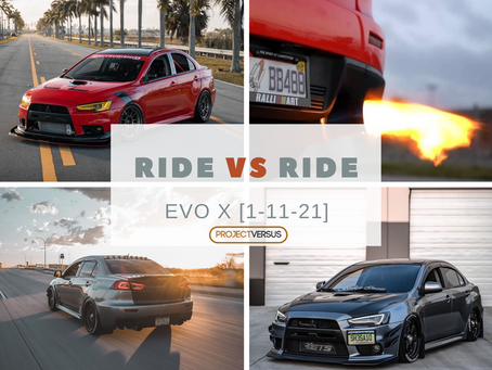 Ride vs Ride | Mitsubishi Evo X
