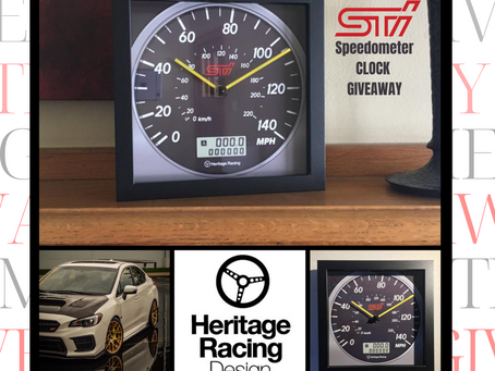 Giveaway | Subaru WRX STi Speedometer Wall/Shelf Clock