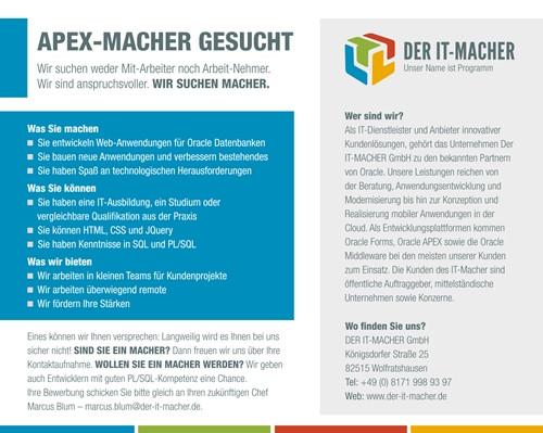 APEX-MACHER gesucht