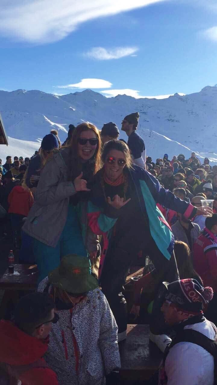 Chilling on a Ski Season, dancing on the table have a great time.