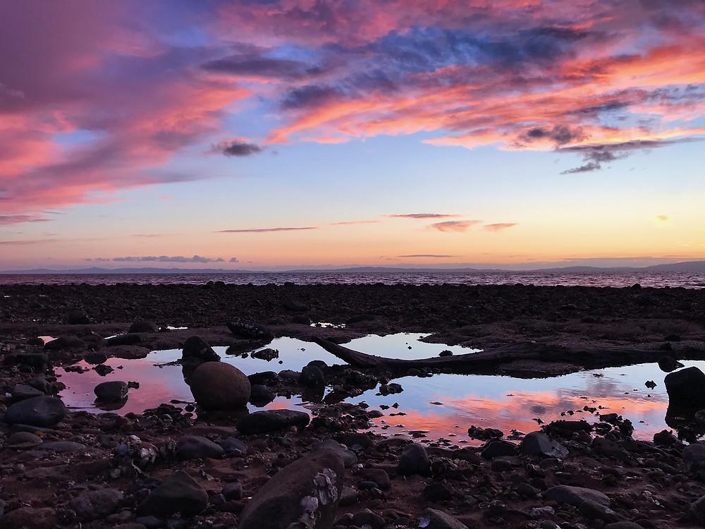 Sunset at Waiomu