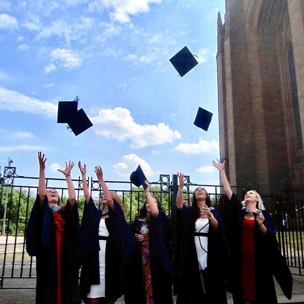 celebrating my graduation at John Moores university