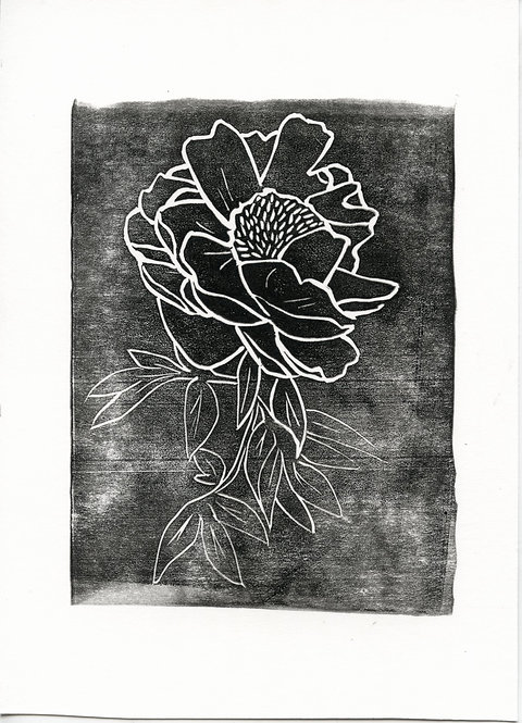 Peonia Block Stamp #1 of 15
