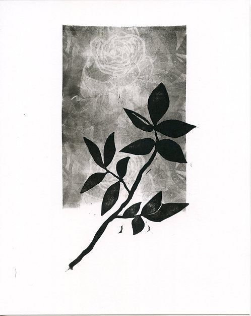 Leafy Branch Stamp with Background #1