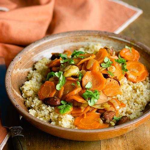 Boulgour et carottes à l'orange