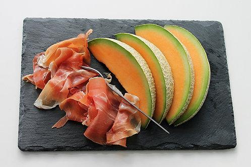 Assiette de melon et jambon de pays