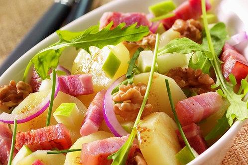 Fraich'bol Campagnolo (lardons, pommes de terre, tomates, pommes, persil, noix)
