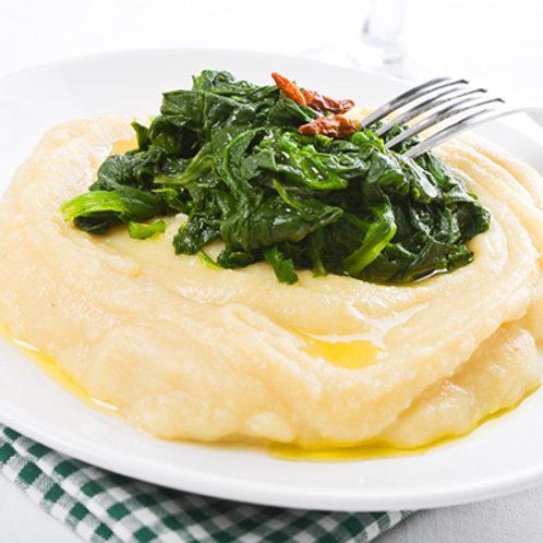 Végétarien: Purée de pommes de terre et épinards