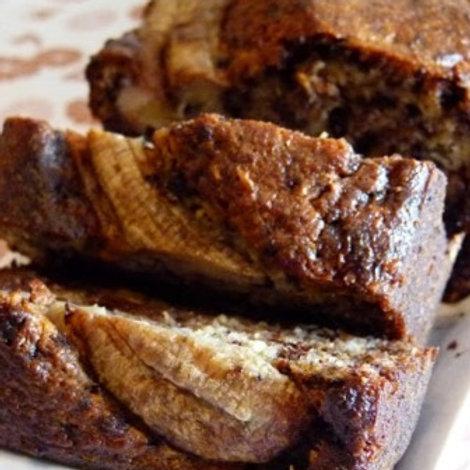 Terrine de bananes aux éclats de brownies