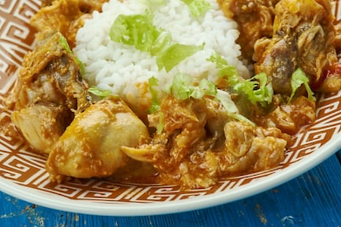 Rôti de porc façon orloff, riz et petits légumes
