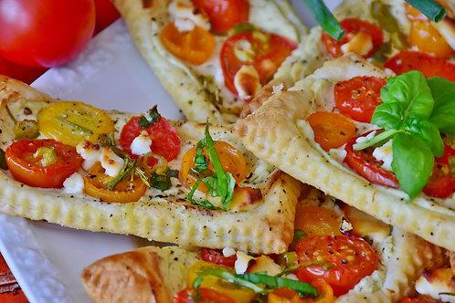 Bruchetta tomates confites et olives noire