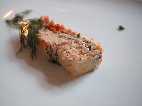 Terrine de saumon épinard