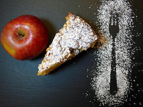Moelleux aux pommes et caramel au beurre salé