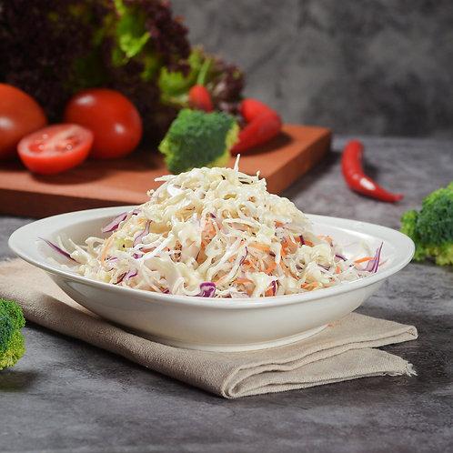 Salade de patate douce, thon, mangue, ananas et sa vinaigrette au fruit de la pa