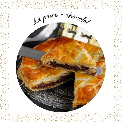 Galette poire chocolat 8-10 pers