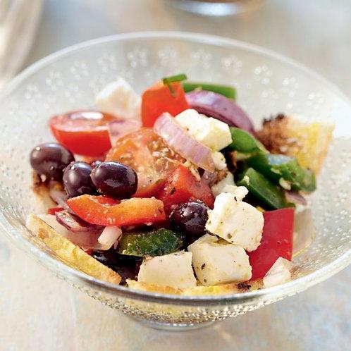 Verrine Grecque (tomates, poivrons, féta et olives)