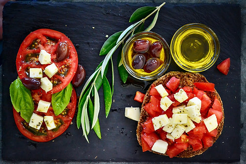 Salade cœurs de palmiers, et tomates