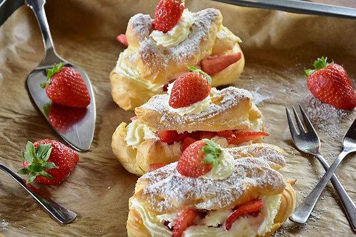 Choux chantilly fraises