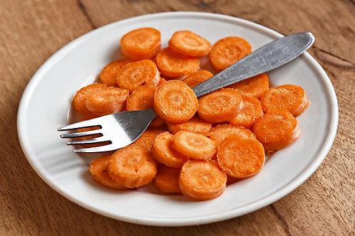 Végétarien:Carottes confites et écrasé de pommes de terre à l'huile d'olive