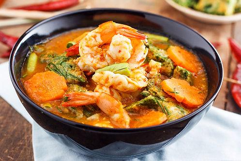 Curry de la mer et gratin de patates douces